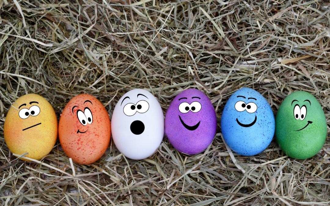 Coloration des oeufs de pâques, un jeu d'enfant !